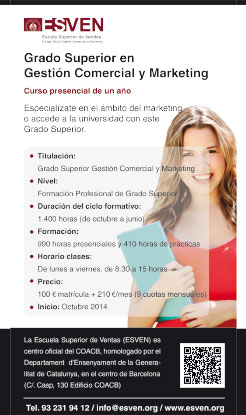 Grado Superior en Gestión Comercial y Marketing
