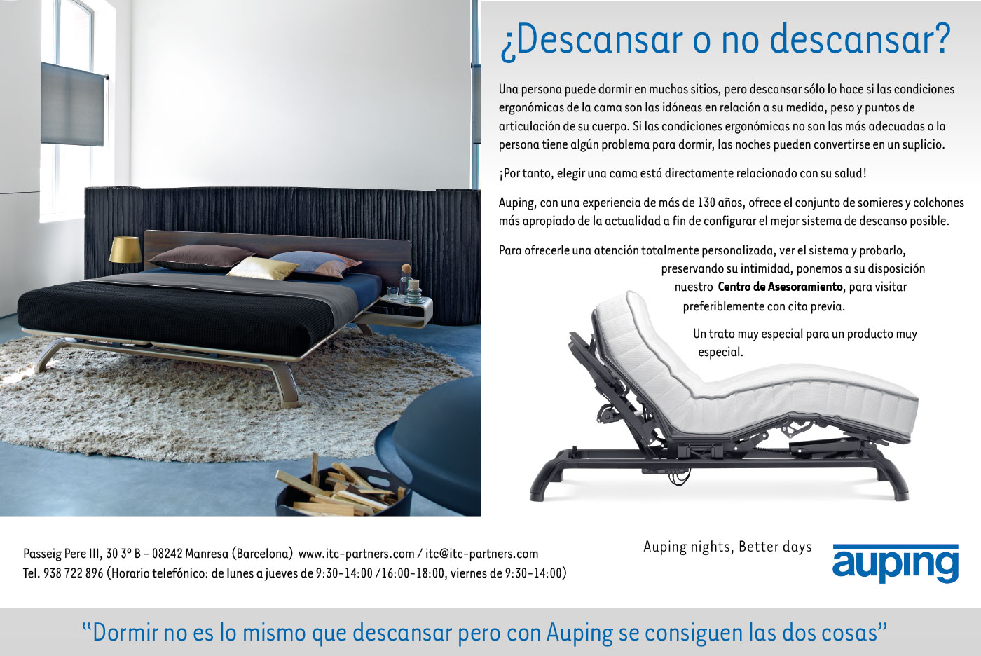 Auping - ¿Descansar o no descansar?